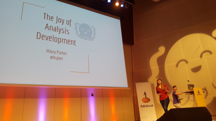 Hilary Parker talking about The Joy of Analysis Development