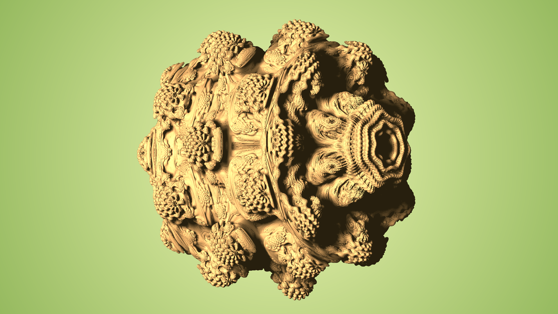 First Mandelbulb render, full of programming bugs